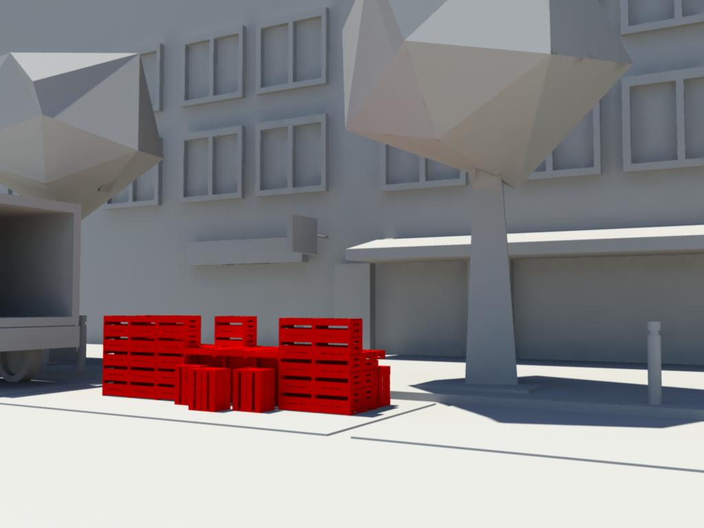 Installation sur place de parking (exemple)