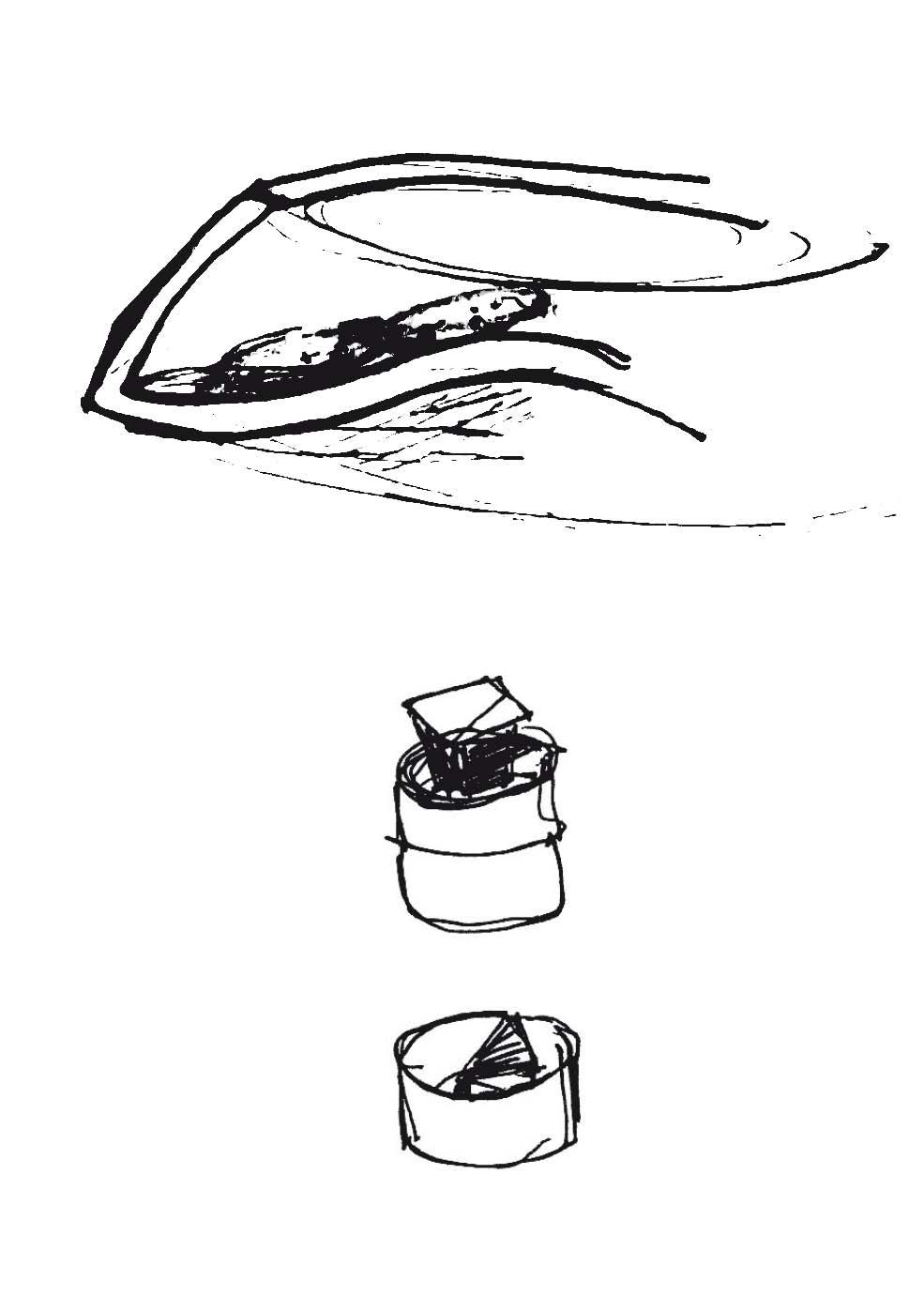 Croquis assiette