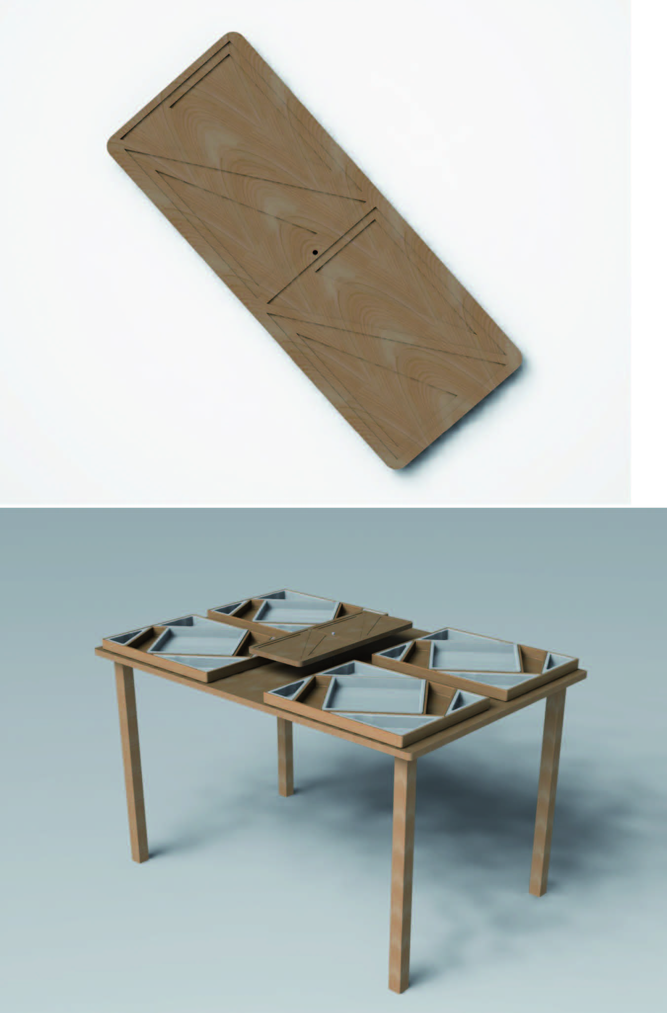 Plateau et table