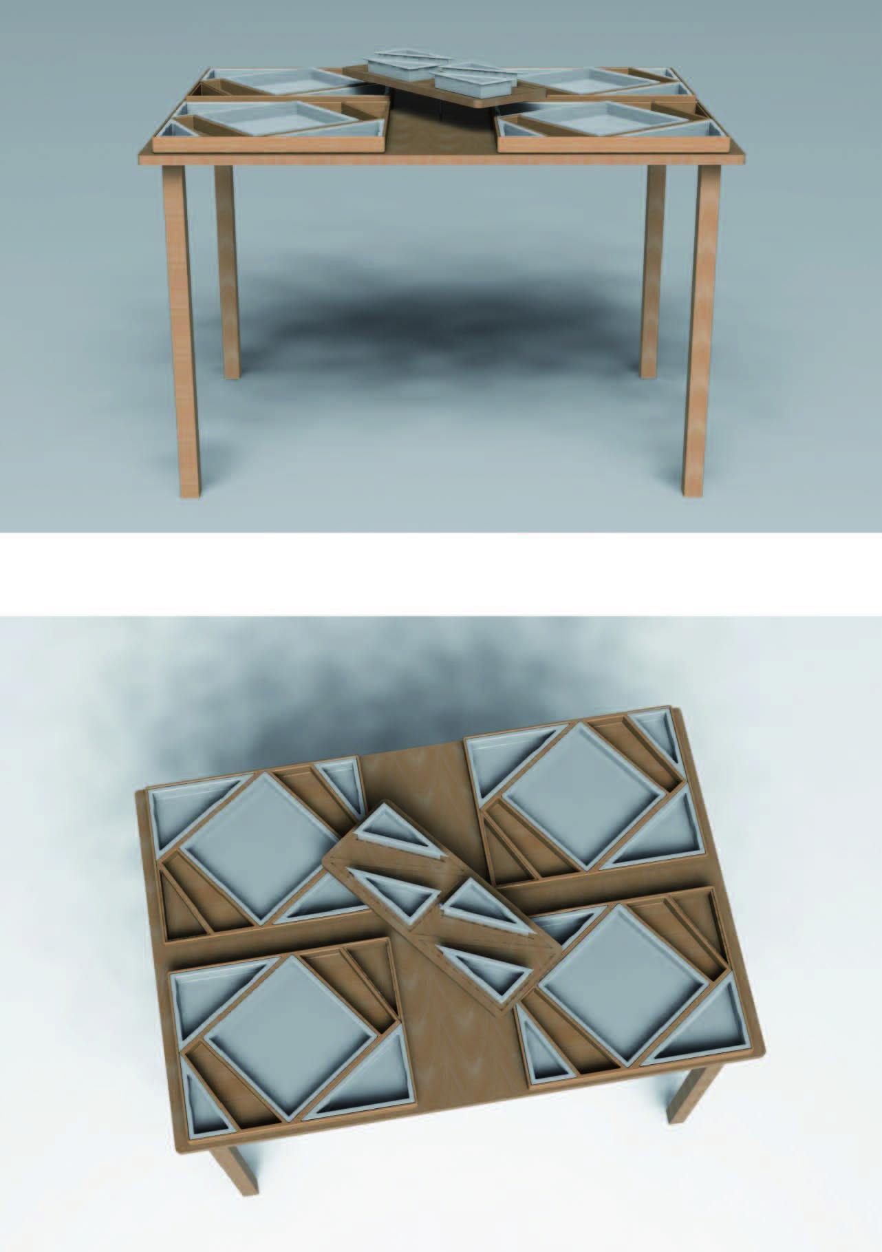 Ensemble plateau et table